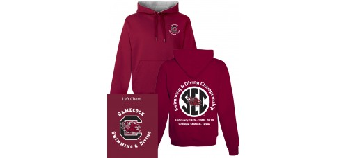 S&DCH3Hoody Available in Garnet or Black