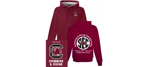 S&DCH1 1/4 Zip Hoody Available in Black or Garnet