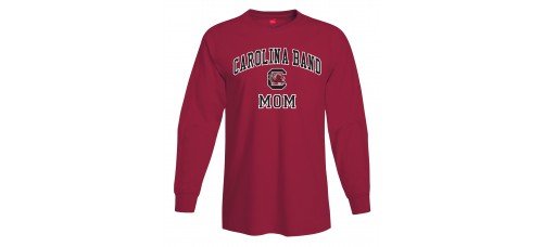 Carolina Band Mom L/S T-Shirt Black, Garnet, Grey