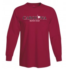Carolina Band Dad L/S T-Shirt Black, Garnet, Grey.