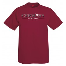 Carolina Band Mom S/S T-Shirt Black, Garnet, Grey