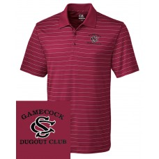 DC-Men's CB DryTec™ Franklin Stripe Polo Garnet & Black
